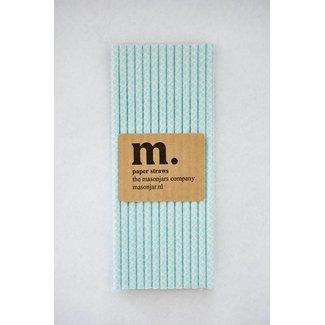 033 Paper straws Quatrefoil Light Blue