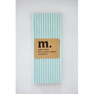 Masonjar Label 033 Paper straws Quatrefoil Light Blue