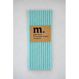Masonjar Label 042 Paper straws Plain Light Blue