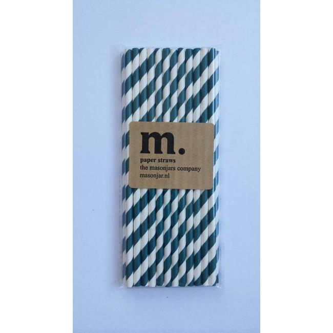 Masonjar Label 034 Paper straws Navy
