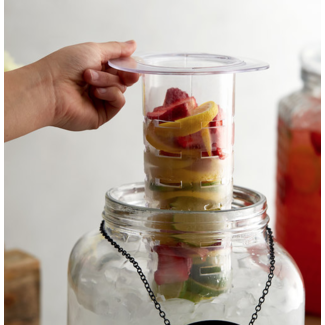Masonjar Label Ice core and infuser set 2 piece