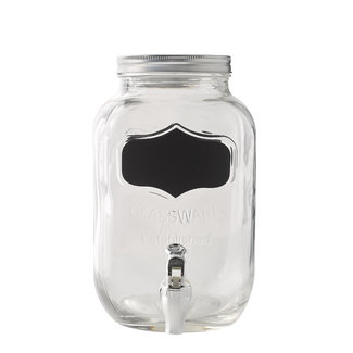 Masonjar Drinkdispenser 1 Gallon with chalk label