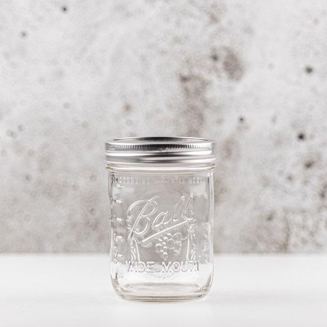 Ball pint jar wide mouth (16oz) | 12 stuks