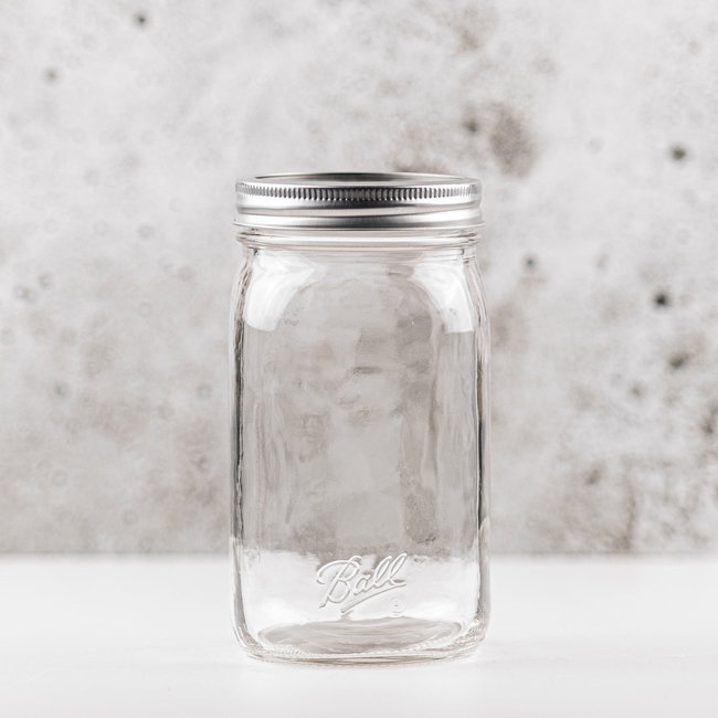 Ball smooth Sided Wide Mouth Jar with lids  (32oz) | 12 pieces