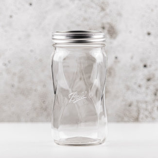 Ball Elite wide mouth pint  spiral with lids  (28oz) | 4 pieces