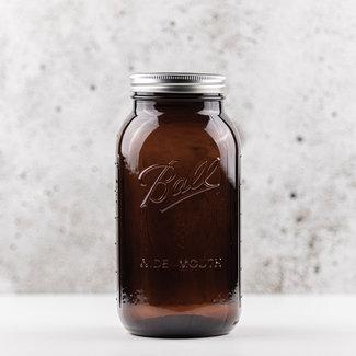 Half gallon | elite amber | wide mouth  | 1.9L | 2pcs