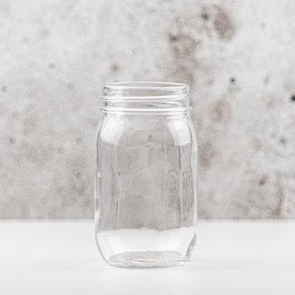 Masonjar Pint | blanco | smalle opening | 475ml | 12stks
