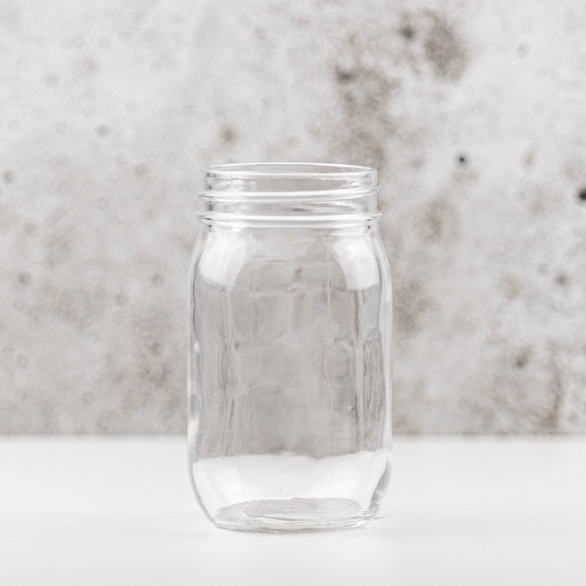 Pint | blanco | smalle opening | 475ml | 12stks