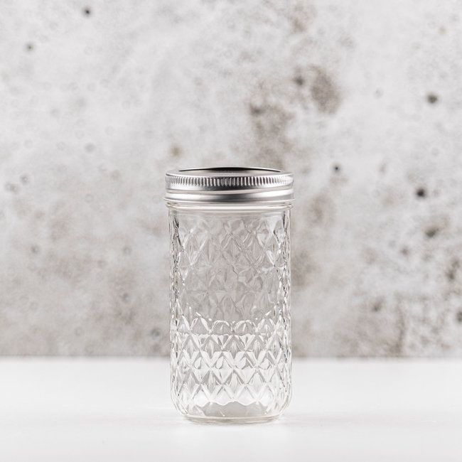 Ball Quilted Crystal Jelly  | smalle opening | 350ml | 12stks