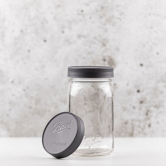 Ball Wide mouth Leak Proof storage caps grijs | 6 stuks | NEW