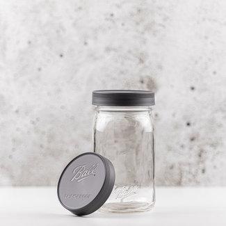 Wide mouth | Leak proof storage caps | grey | 6 pcs