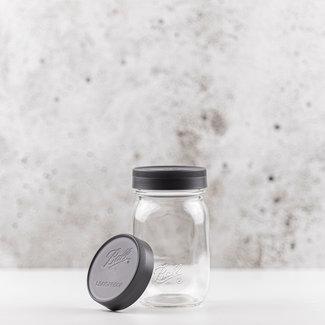 Ball Regular mouth Leak proof storage caps | grey | 6 pcs