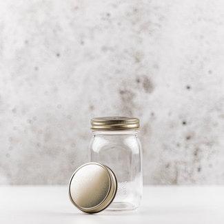 Masonjar Mason Jar regular deksel goud 1 stuk