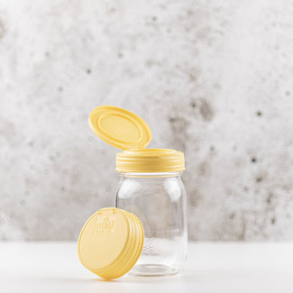 reCAP reCAP Mason Jar FLIP - Regular Mouth YELLOW 1 pcs