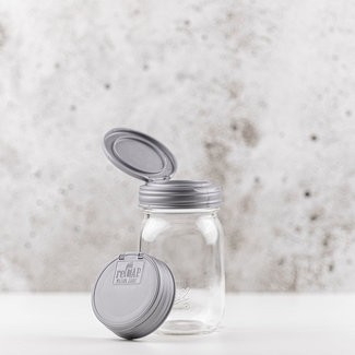 reCAP reCAP Mason Jar FLIP - Regular Mouth SILVER 1 pcs