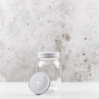 Masonjar Regular Mouth Straw-deksel wit  1 pcs