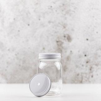Masonjar Regular Mouth Straw-lid white  1 pcs