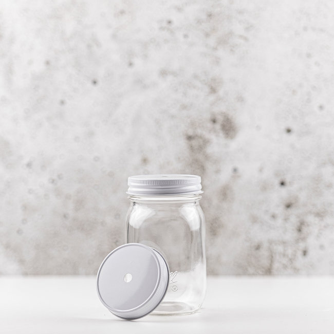 Masonjar Regular Mouth Straw-lid white  1 pcs