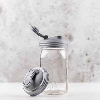 reCAP reCAP Mason Jar - Wide Mouth SILVER 1 pcs