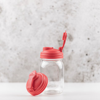 reCAP reCAP Mason Jar - Regular Mouth Red 1 pcs