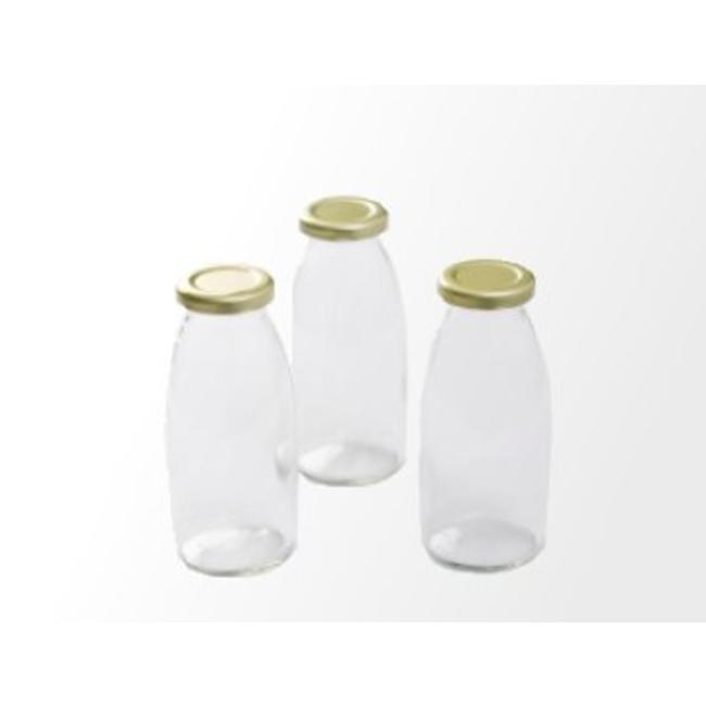 Retro melkflesjes incl dop (1 st.)