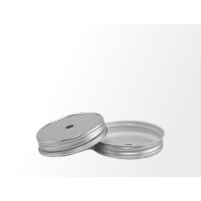 Masonjar Mason Jar regular straw hole lid silver