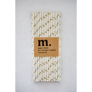 012 Paper straws golden strar