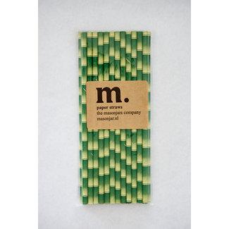 Masonjar Label 014 Papieren rietjes bamboo