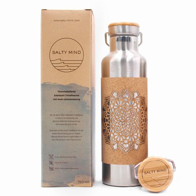 Stainless steel drinking bottle | mandala | 750ml