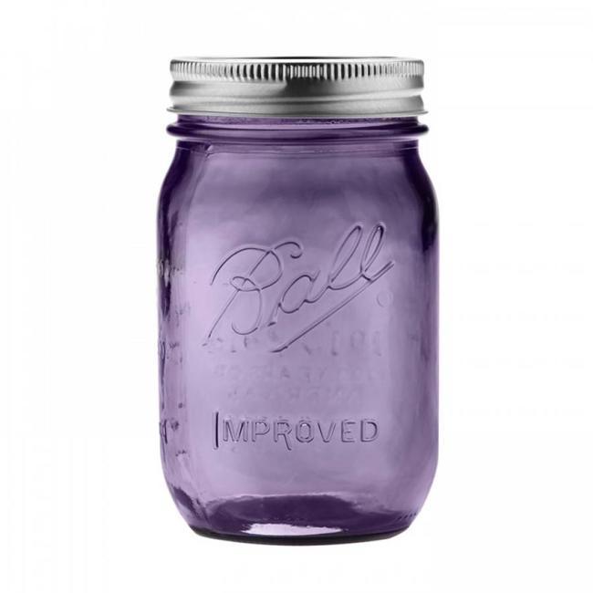 Ball Ball heritage Purple collection pint (16 oz) | 6 stuks