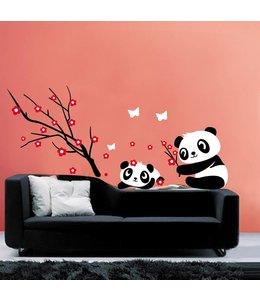 Muursticker pandabeertjes