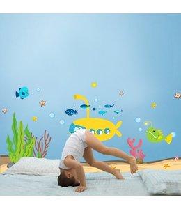 Muursticker lieve onderwater diertjes