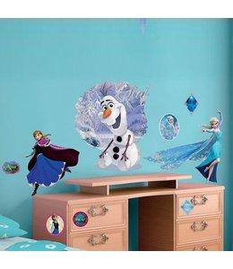 Muurstickers Frozen  Olaf, Anna en Elsa