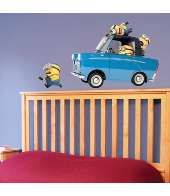 Muursticker minions in auto