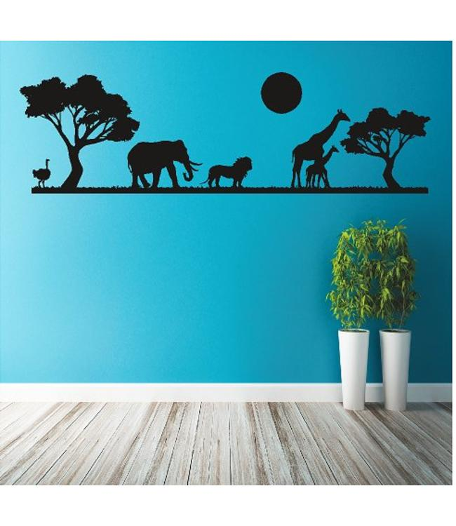 Muursticker Afrika safari dieren