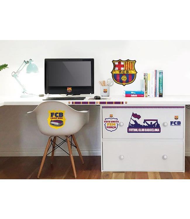 Muursticker FC Barcelona Logo (klein)