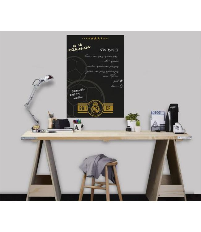 Muursticker Real Madrid Blackboard