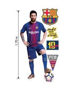 Muursticker levensechte Messi -Mega muursticker