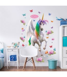 Muursticker eenhoorn XXL - magical unicorn
