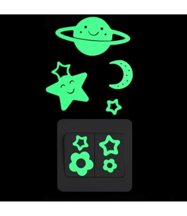 Muursticker glow in the dark planeetje
