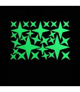 Muursticker glow in the dark sterren  v2