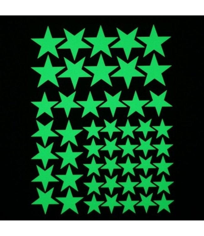 Muursticker glow in the dark sterren v3