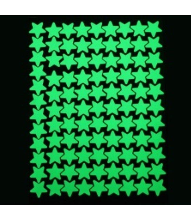 Muursticker glow in the dark sterren v4