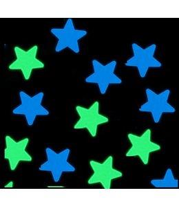 Muursticker glow in the dark sterren v4 - blauw