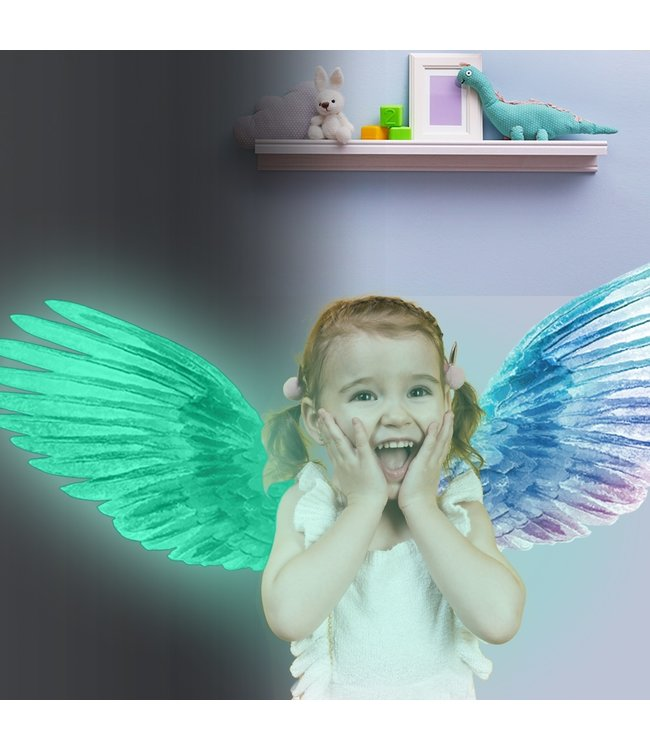 Muursticker glow in the dark engelen vleugels - angel wings