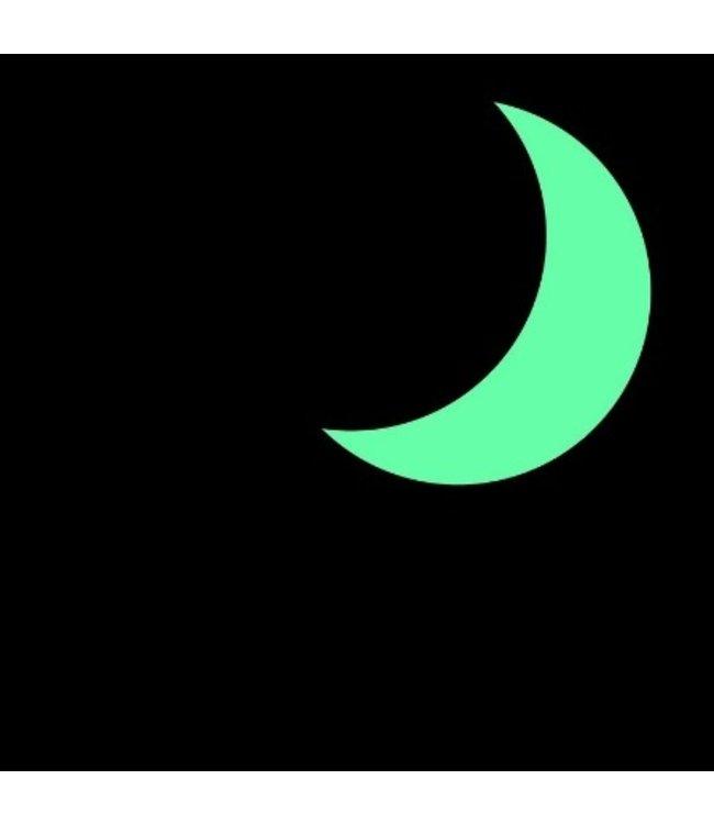 Muursticker glow in the dark halve maan