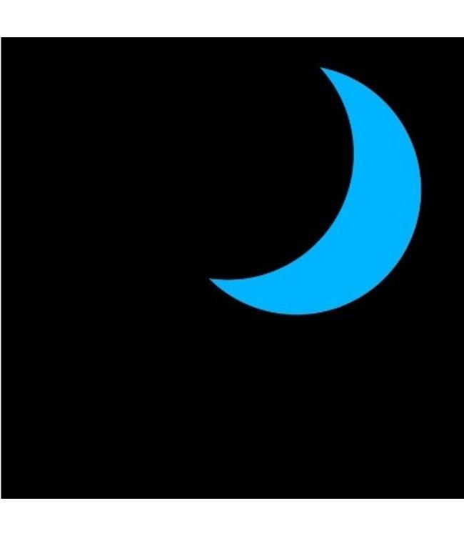 Muursticker glow in the dark halve maan blauw