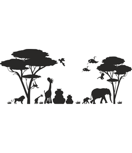 Muursticker jungle dieren kids