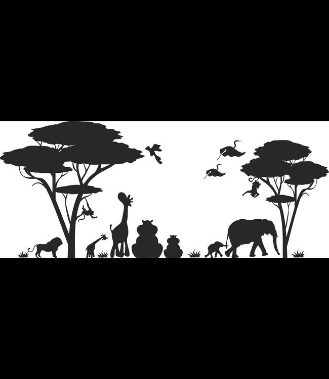Muursticker jungle dieren kids