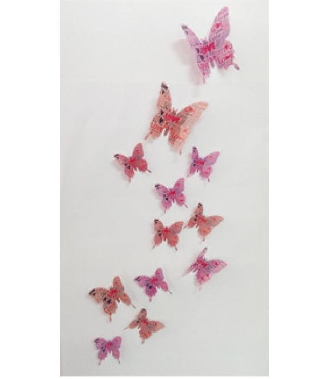3D vlinders love